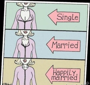 Single vs married Cleavage