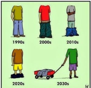 Pant fashions 90s vs today