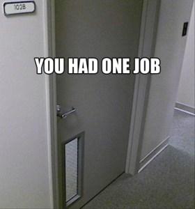 Wrong Way, Right Door