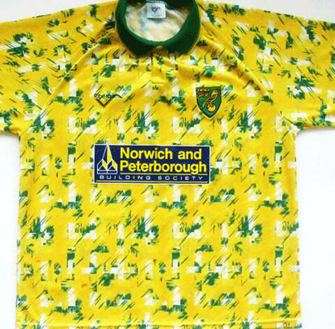Norwich City home shirt 1993-94