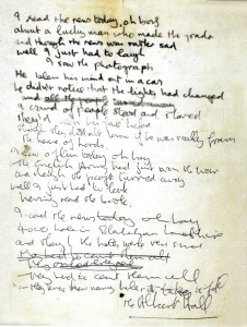John Lennon's Handwritten Stanzas For 'A Day In The Life'