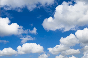 Cloudy earth-screen