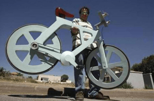 Bicycle from cardboard