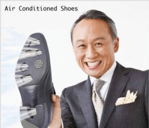 Shoes with air conditioner