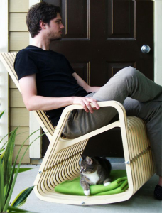 Owner and pet rock chair