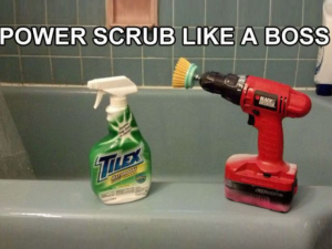 Efficient scrubbing