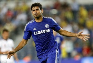 Diego Costa is one of the Top 10 Highest Paid Chelsea Players 2014/15