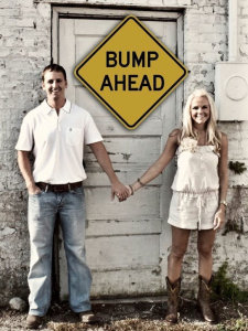 Funny pregnancy announcements - There's A Bump Ahead