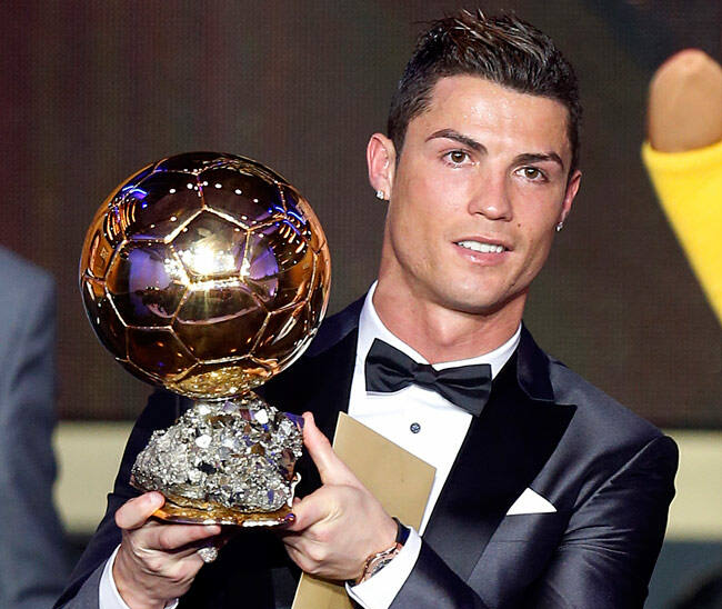 Ronaldo's Ballon d'Or win 2013 broke a sequence of four consecutive wins for Lionel Messi