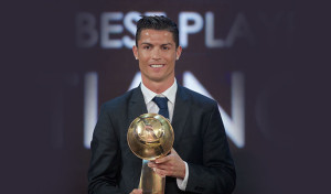 Cristiano Ronaldo Winner Of The Globe Soccer Best Player Of The Year Award 2014