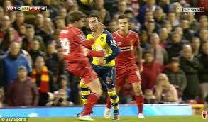 Fabio Borini is one of the Top 10 Premier League Players with most Red Cards so Far 2014/15