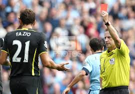 Fazio is one of the Top 10 Premier League Players with most Red Cards so Far 2014/15