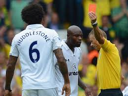 Tom Huddlestone is one of the Top 10 Premier League Players with Red Cards so Far 2014/15