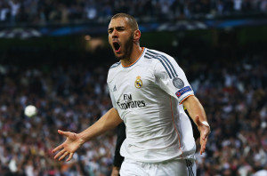 Karim benzema is one of the Top 10 Goal Scorers in The Champions League so Far 2014/15