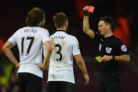Luke shaw is one of the Top 10 Premier League Players with most Red Cards so Far 2014/15