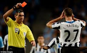 steven Taylor is one of the Top 10 Premier League Players with most Red Cards so Far 2014/15