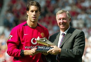 Ruud Van Nistelroy is one of the Top 10 Footballers With Most Premier League Golden Boots