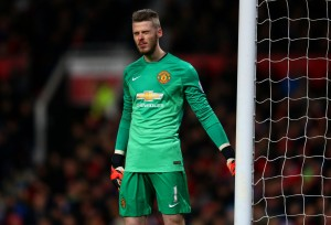 David De gea is the goalkeeper of the PFA Team of The Year This Season 2014/2015