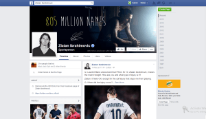 zlatan is one of the Top 10 Most Popular Footballers on Facebook