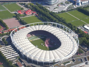 Mercedes Benz Arena is one of the biggest stadiums in the Germany Bundesliga