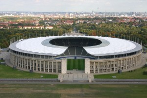 Olympiastadion Berlin is one of the biggest stadiums in the Germany Bundesliga