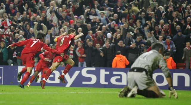 Liverpool 3-1 Olympiacos is one of the Top 10 Champions League Comebacks