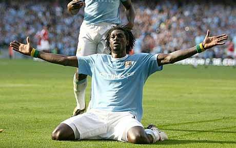 Adebayor's celebration is one of the Top 10 Most Controversial Player Celebrations in Football